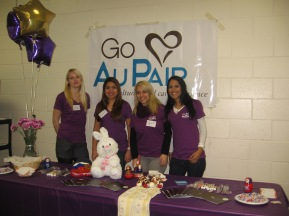 Go Au Pair volunteering for FRUA.
