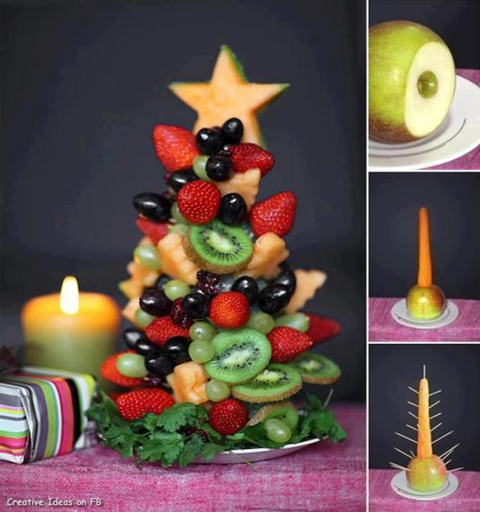 Christmas fruit tree for kids