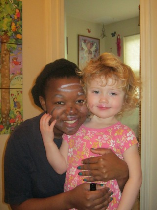 Au Pair Phila with her host child