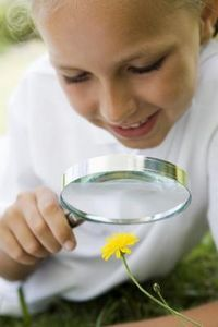 Au Pair kids activities-using-magnifying-glasses