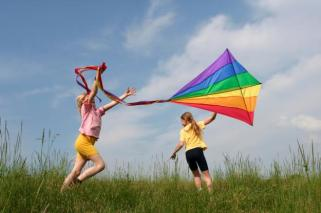 kids with kite
