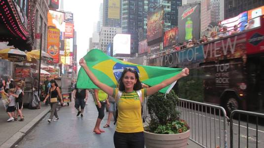 Au Pair Fernanda at the brazilian Festival