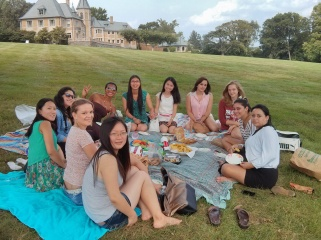 Au Pairs meeting at Bryn Athym 025