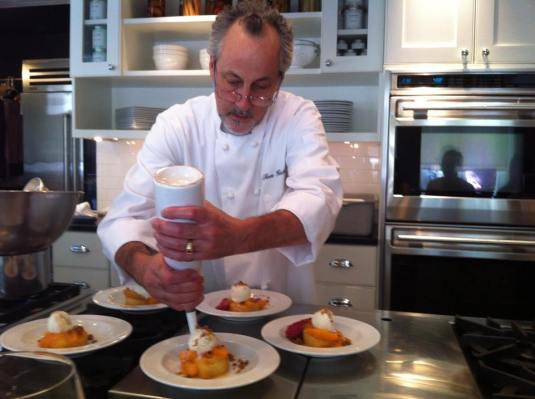 my Au Pair cooking class with Thomas Heck of Davio's