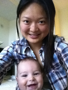 Au Pair from China with her host child