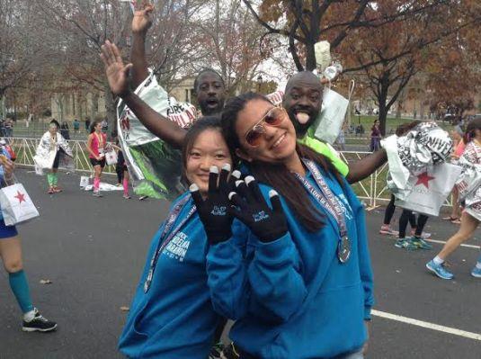 at the marathon
