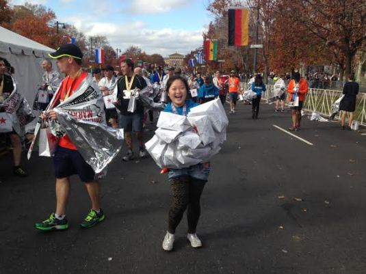 au pair Ophelia at the Marathon