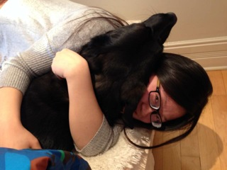 Au pair with a dog Maggie