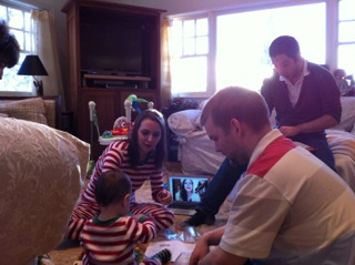 opening Christams gifts