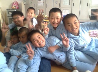 the children in deaf school