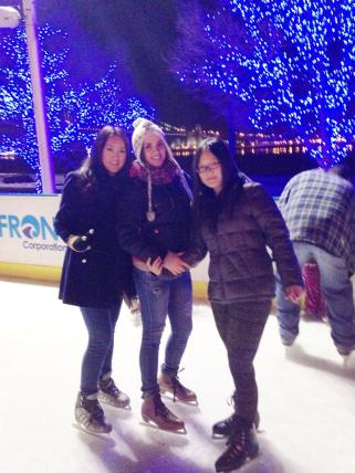 Au Pairs at the rink