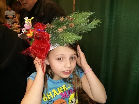 Au Pair made a floral headband