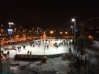 Au pairs Ice Skating at Blue Cross RiverRink