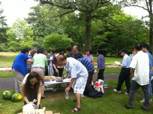 Au Pair church picnic