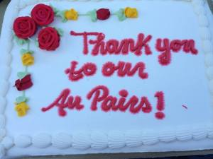 Thank you to our Au Pairs.
