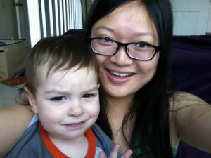 Au Pair and host child