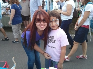 Au Pairs face painting