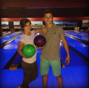 Au Pair from Ukraine  with her brother