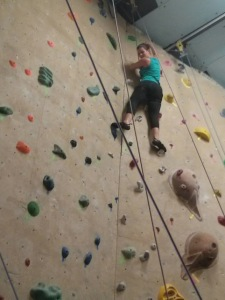 Au pairs at Rock Gym 4