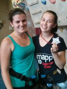 Au pairs at Rock Gym 7
