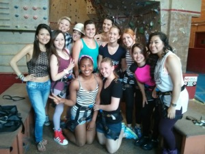 Au pairs at Rock Gym