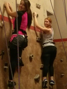 Au pairs at Rock Gym1