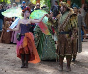 Au pair meeting at Village Renaissance Faire