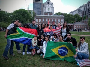 Au Pair farewell picnic Independence National Historical Park 2