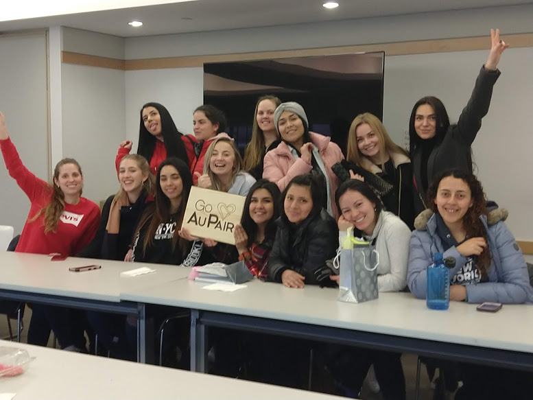 Au Pairs meeting in Philadelphia library 2019 year